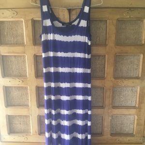 NWOT Ellen Tracy cotton maxi dress